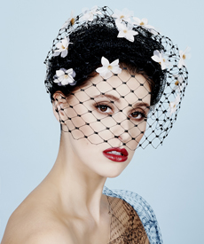 Fashion hat Misty Veil, a design by Melbourne milliner Louise Macdonald