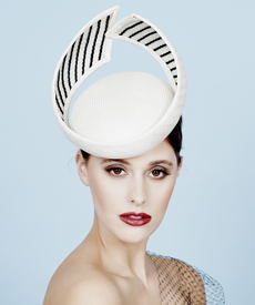 Fashion hat Odessa, a design by Melbourne milliner Louise Macdonald