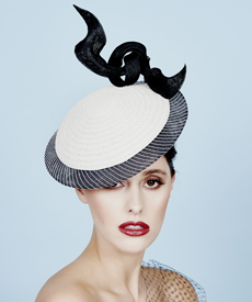 Fashion hat Saquita, a design by Melbourne milliner Louise Macdonald
