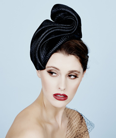 Fashion hat Shante, a design by Melbourne milliner Louise Macdonald