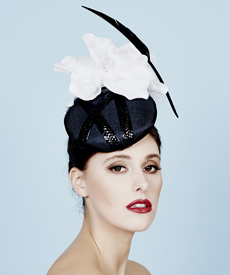 Fashion hat Sheila Beret, a design by Melbourne milliner Louise Macdonald