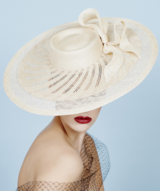 Fashion hat Xaranda, a design by Melbourne milliner Louise Macdonald