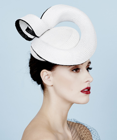 Fashion hat Yamila Beret, a design by Melbourne milliner Louise Macdonald