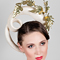 Fashion hat Aella Headpiece, a design by Melbourne milliner Louise Macdonald