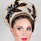 Fashion hat Autumn Halo, a design by Melbourne milliner Louise Macdonald