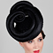 Fashion hat Black Masonaba, a design by Melbourne milliner Louise Macdonald