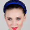 Fashion hat Blue Headband with Vintage Braid, a design by Melbourne milliner Louise Macdonald