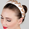Fashion hat Cream Headband with Champagne Vintage Braid, a design by Melbourne milliner Louise Macdonald