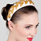 Fashion hat Cream Headband with Gold Vintage Braid, a design by Melbourne milliner Louise Macdonald