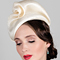 Fashion hat Cream Sega, a design by Melbourne milliner Louise Macdonald