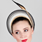 Fashion hat Dawn, a design by Melbourne milliner Louise Macdonald