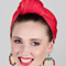 Fashion hat Red Candice Turban Wrap, a design by Melbourne milliner Louise Macdonald
