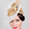 Fashion hat Vela, a design by Melbourne milliner Louise Macdonald