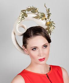Fashion hat Aella Headpiece, a design by Melbourne milliner Louise Macdonald