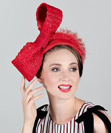 Fashion hat Apollo Bow, a design by Melbourne milliner Louise Macdonald