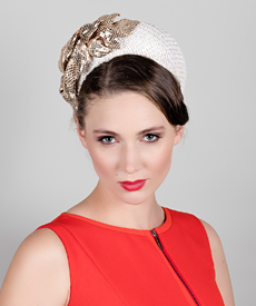 Fashion hat Estee Halo, a design by Melbourne milliner Louise Macdonald