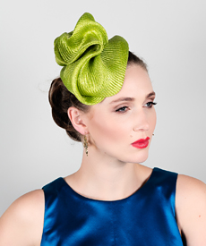 Fashion hat Lime Sega, a design by Melbourne milliner Louise Macdonald