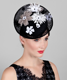 Fashion hat Oriana, a design by Melbourne milliner Louise Macdonald