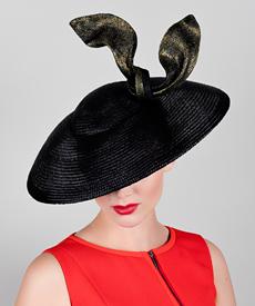 Fashion hat Reva, a design by Melbourne milliner Louise Macdonald