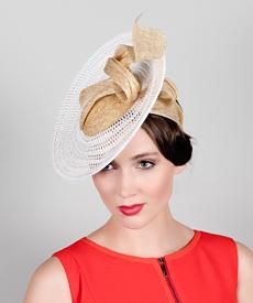 Fashion hat Vela, a design by Melbourne milliner Louise Macdonald