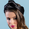 Fashion hat Black Turban Wrap, a design by Melbourne milliner Louise Macdonald