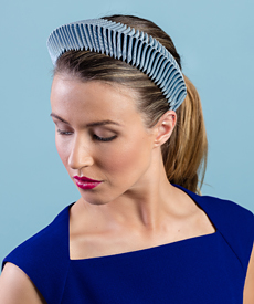 Fashion hat Blue Bandeau, a design by Melbourne milliner Louise Macdonald