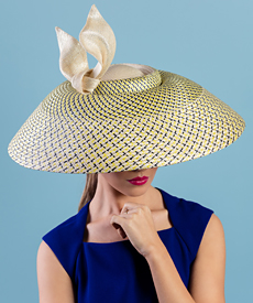 Fashion hat Edna, a design by Melbourne milliner Louise Macdonald