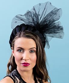 Fashion hat Kitty, a design by Melbourne milliner Louise Macdonald