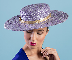 Fashion hat Lillian, a design by Melbourne milliner Louise Macdonald