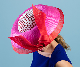 Fashion hat Pearl, a design by Melbourne milliner Louise Macdonald