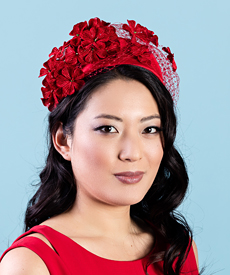 Fashion hat Ruby, a design by Melbourne milliner Louise Macdonald