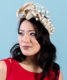 Fashion hat Sama with Vintage Veil, a design by Melbourne milliner Louise Macdonald