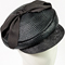 Fashion hat Seraina Cap in Black, a design by Melbourne milliner Louise Macdonald