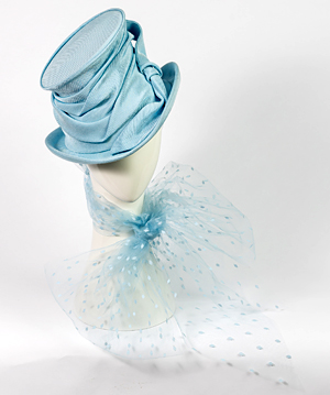 Fashion hat Aurora, a design by Melbourne milliner Louise Macdonald