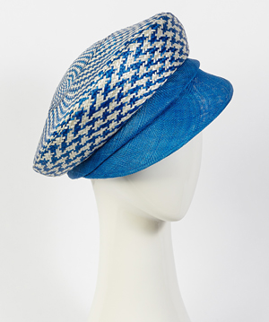 Fashion hat Camilla Cap, a design by Melbourne milliner Louise Macdonald