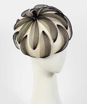 Fashion hat Elenora, a design by Melbourne milliner Louise Macdonald