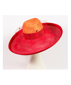 Fashion hat Elenora Fedora, a design by Melbourne milliner Louise Macdonald