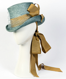 Fashion hat Giddy Up Riding Hat, a design by Melbourne milliner Louise Macdonald