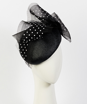 Fashion hat Martina Beret, a design by Melbourne milliner Louise Macdonald