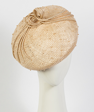Fashion hat Natural Vitoria Beret, a design by Melbourne milliner Louise Macdonald