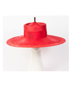 Fashion hat Red Como, a design by Melbourne milliner Louise Macdonald