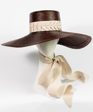 Fashion hat Trento, a design by Melbourne milliner Louise Macdonald