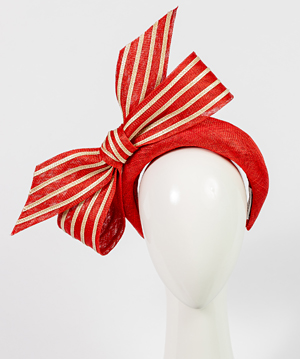 Fashion hat Valentina Bow, a design by Melbourne milliner Louise Macdonald
