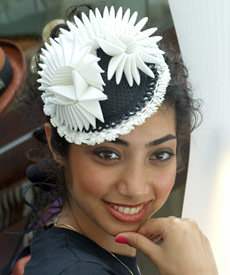 Fashion hat designed by Melbourne milliner Louise Macdonald and presented at Dubai's BurJuman Centre (2010)