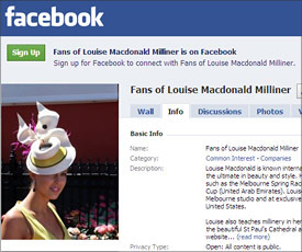 Melbourne millinery Louise Macdonald takes her world of hats to Facebook