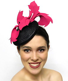 This fashion headpiece by Melbourne milliner Louise Macdonald was given to a hat lover and friend of her Facebook page