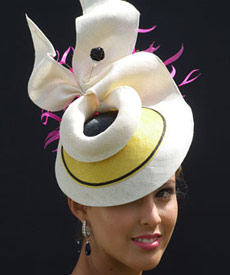 Melbourne milliner Louise Macdonald was a finalist in the Professional Millinery Competition at the Spring Racing Carnival 2009