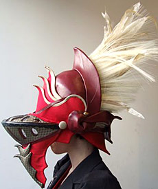 Hat designed by a student of Melbourne milliner Louise Macdonald at Swinburne TAFE