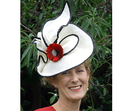 Louise Macdonald was interviewed by Anna Mott at Werribee Cup in 2011 and discussed the 'transeasonal hat'