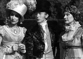 Jerry Hall, Murray Melvin and Wendy Hughes (left to right) in Princess Caraboo